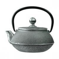 Чайник с ситечком; чугун; 650мл; D=8.7,H=9.4,L=14.5см; черный WLT9923-0.65