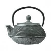 Чайник с ситечком; чугун; 450мл; D=8.5,H=9.5,L=14.4см; черный WLT9923-0.45
